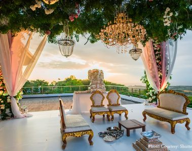Bali destination wedding with Pheras at cliff top resort