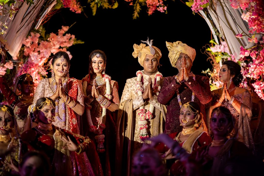 Family Portrait Picture of Swati & Saket's Indian Destination Wedding in Hua Hin, Thailand