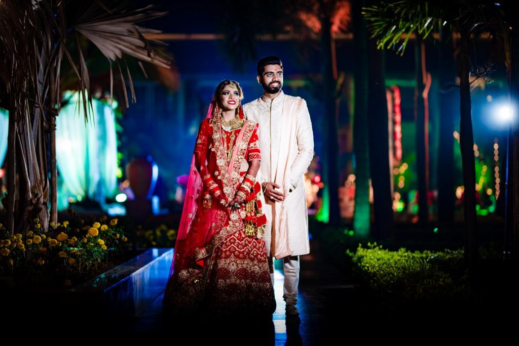 Pooja & Mohit's Couple Portrait at Radisson Blu Karjat of their Karjat destination wedding