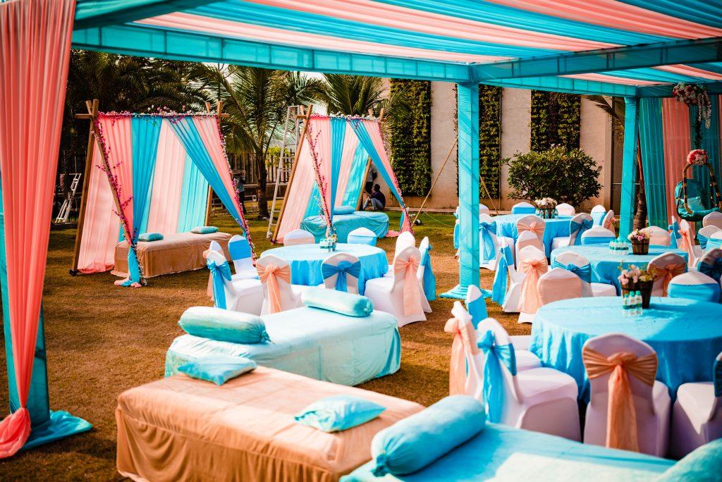Pink & Blue Decor at Hotel Raddison Blu Karjat