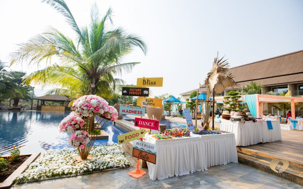 Outdoor Lawn Colorful Decor Ideas at Karjat Wedding