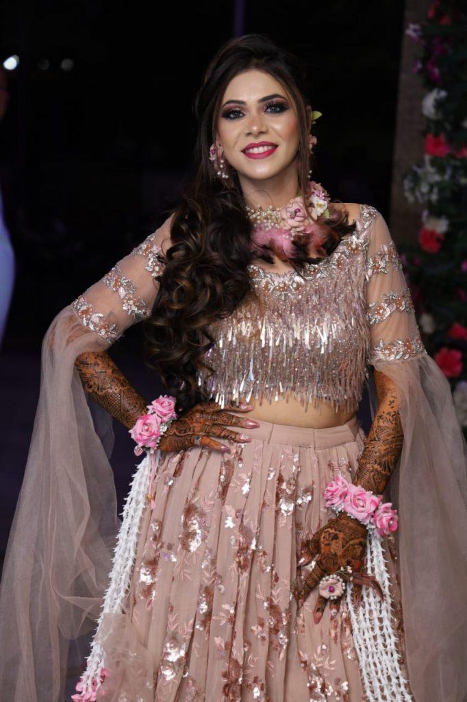 Bridal Look for Mehendi Ceremony at Radisson Blu Hotel Karjat