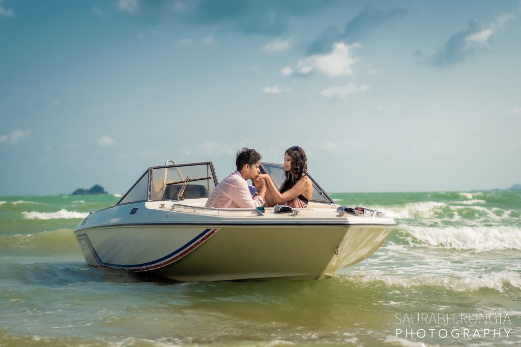 Swati & Saket's Pre Wedding Photo-shoot in Thailand a Boat
