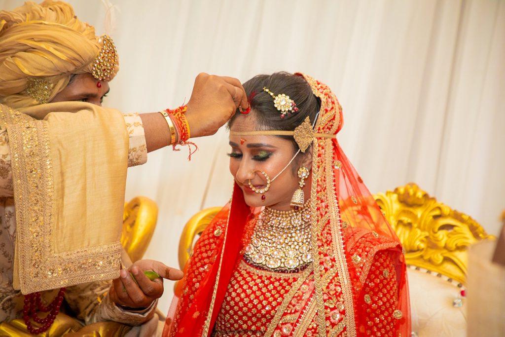 Swati & Saket's Sindoor Moment Picture from their Indian Destination Wedding in Thailand