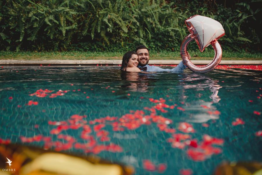 Somi & Yash's Romantic Proposal Photoshoot at Orange County before Mayfair Raipur Wedding