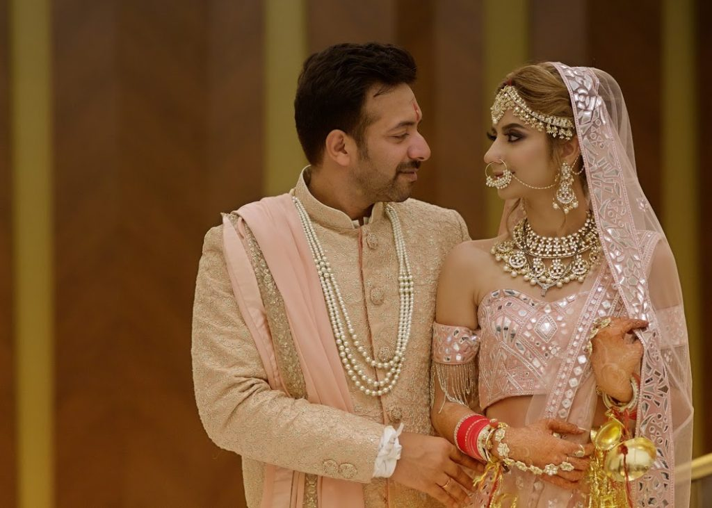 Kanika & Saurav Fairmont Ajman Wedding Couple Portrait