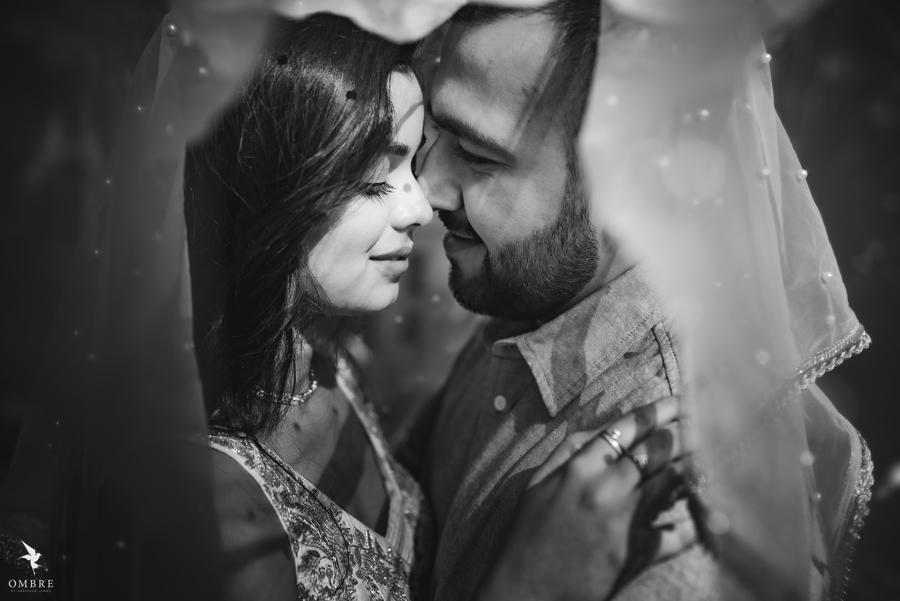 Aesthetic Black and White Pre-wedding Couple Portraits of Yash & Somi