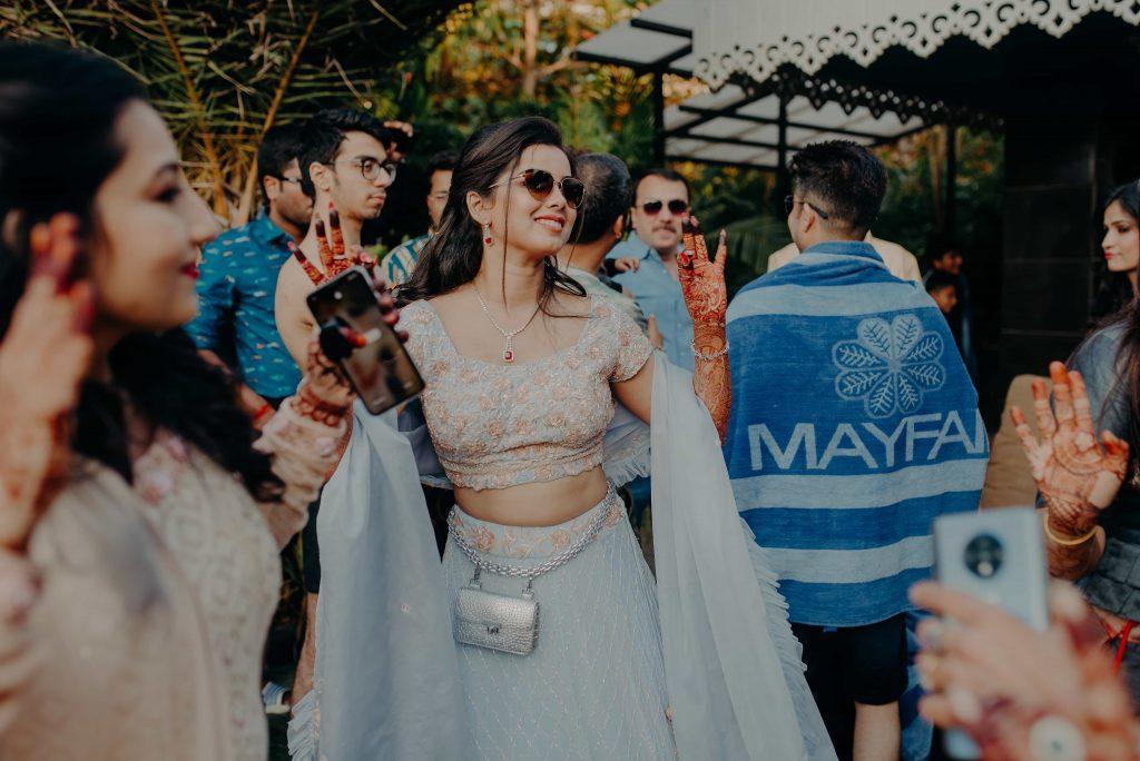 Somi Having Fun at her Destination Wedding in Raipur at Mayfair Lake Resort