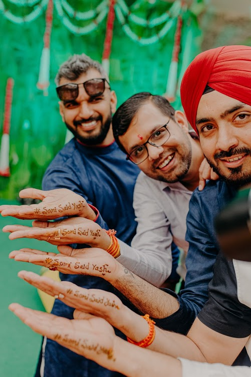 Quirky Mehendi Picture from Somi's Mayfair Raipur Wedding's Mehendi Function