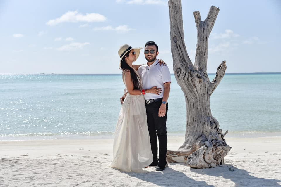 Beach Fun for Yash and Somi for their Honeymoon in Maldives