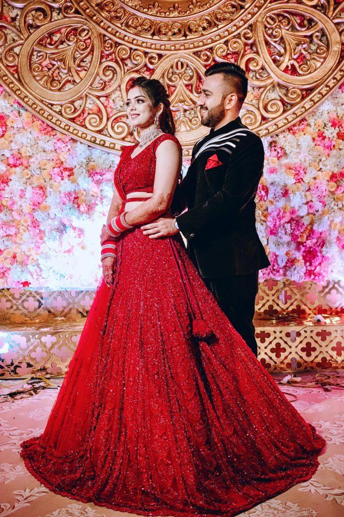 Classy Wedding Reception Portrait of Somi & Yash