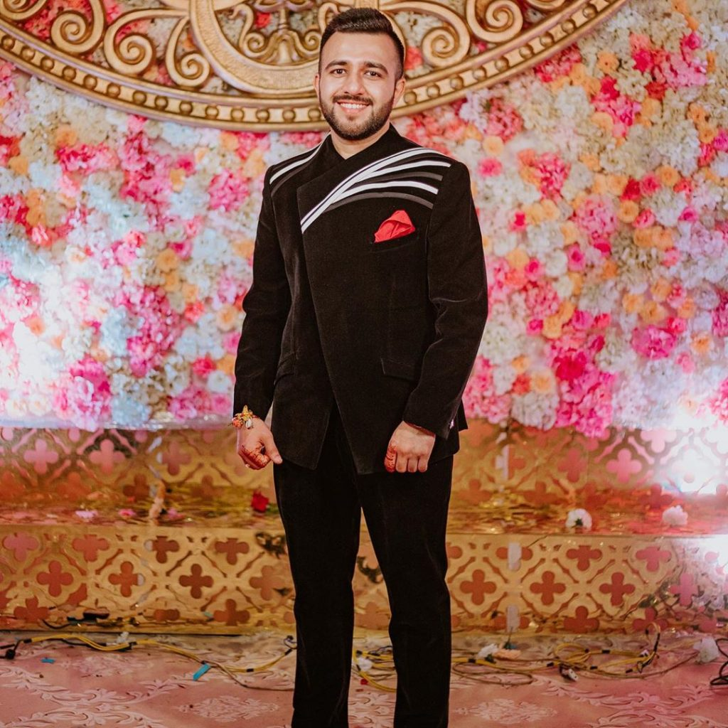 Smart Portrait of Yash from the Grand Mayfair Raipur Wedding
