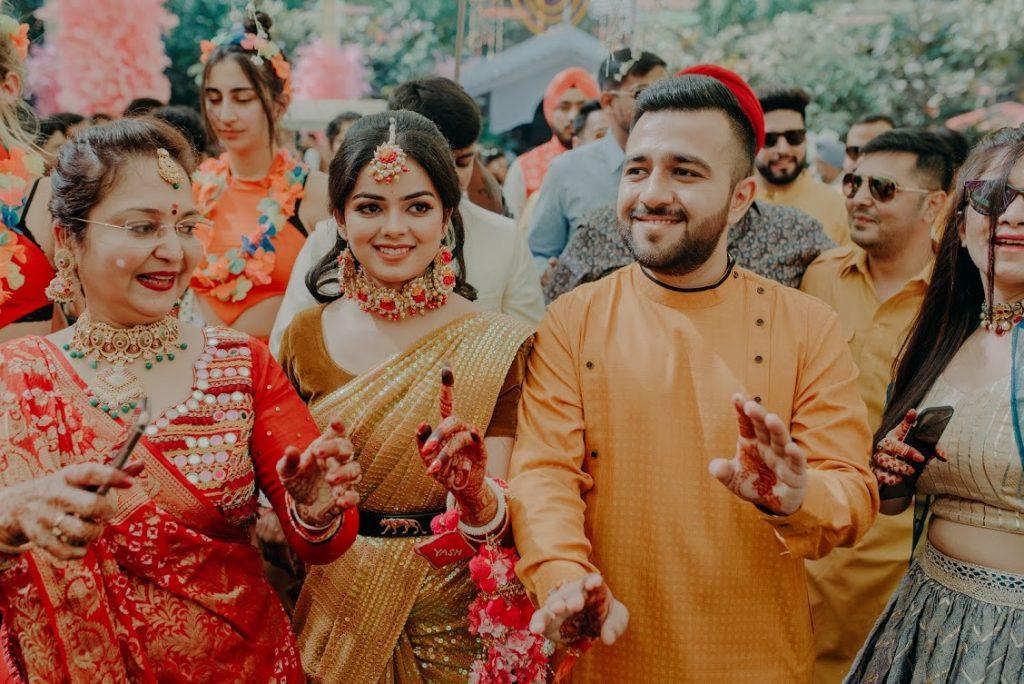 Haldi Celebration before Destination Wedding in Raipur
