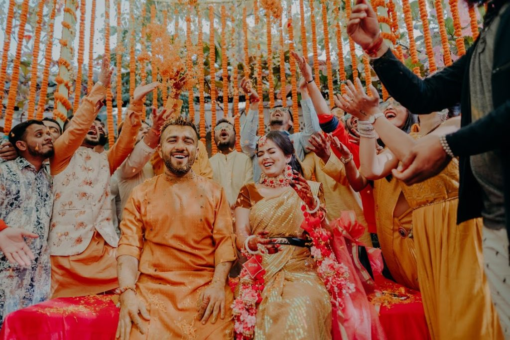 Somi & Yash's Aesthetic Haldi Ceremony before Mayfair Raipur Wedding