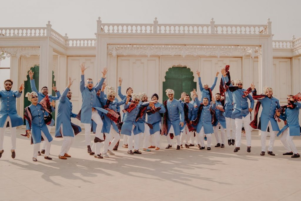 Stunning Sight of Indian Groomsmen in Themed Outfits