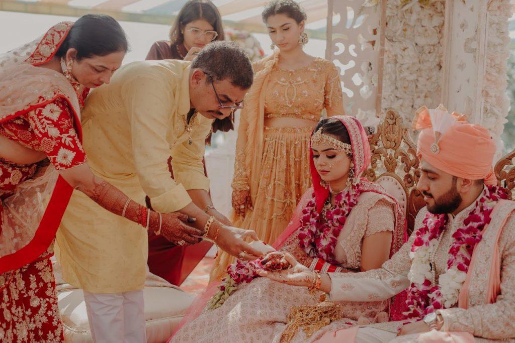 Kanya Daan Ceremony in Somi & Yash's Punjabi Wedding at Mayfair Lake Resort Raipur