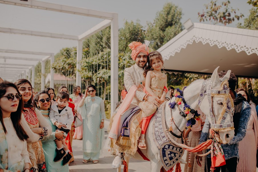 Yash's Tradition Wedding Entry on Horse