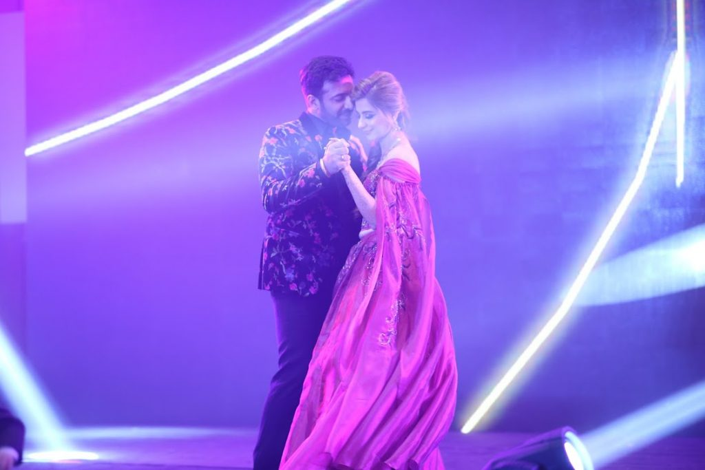 Kanika and Saurav Couple Dance at Cocktail Party in Dubai