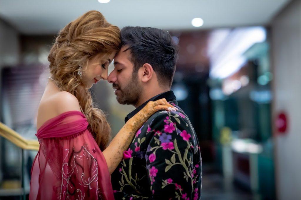 Beautiful Portrait Shot of Kanika & Saurav from their Cocktail Party in Fairmont Ajman Dubai