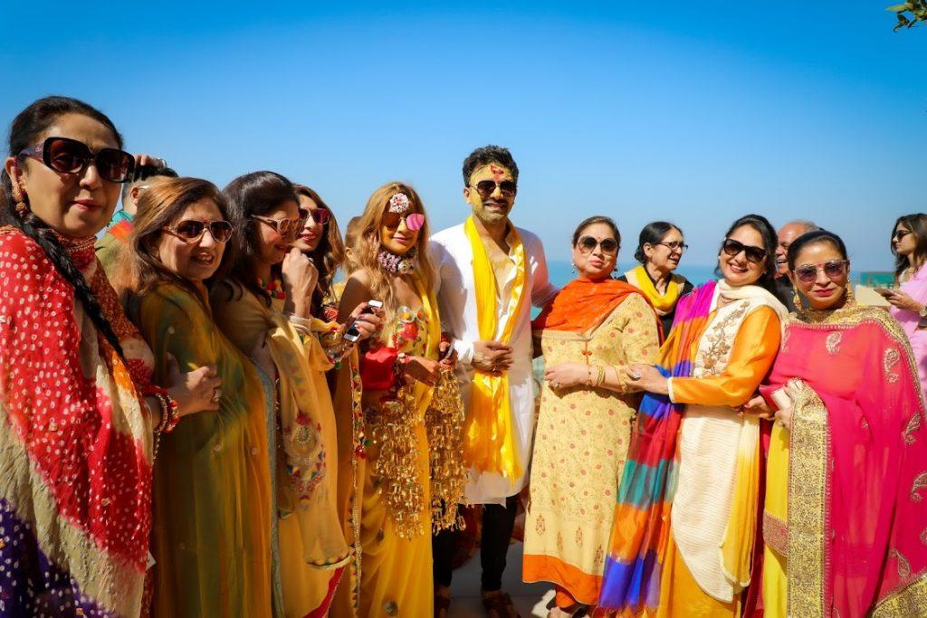 Haldi Ceremony Family Portrait shot at Fairmont Ajman Hotel