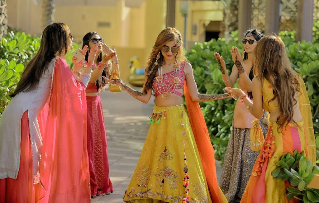 Kanika's Fun Photoshoot with Bridesmaids from Fairmont Ajman Wedding