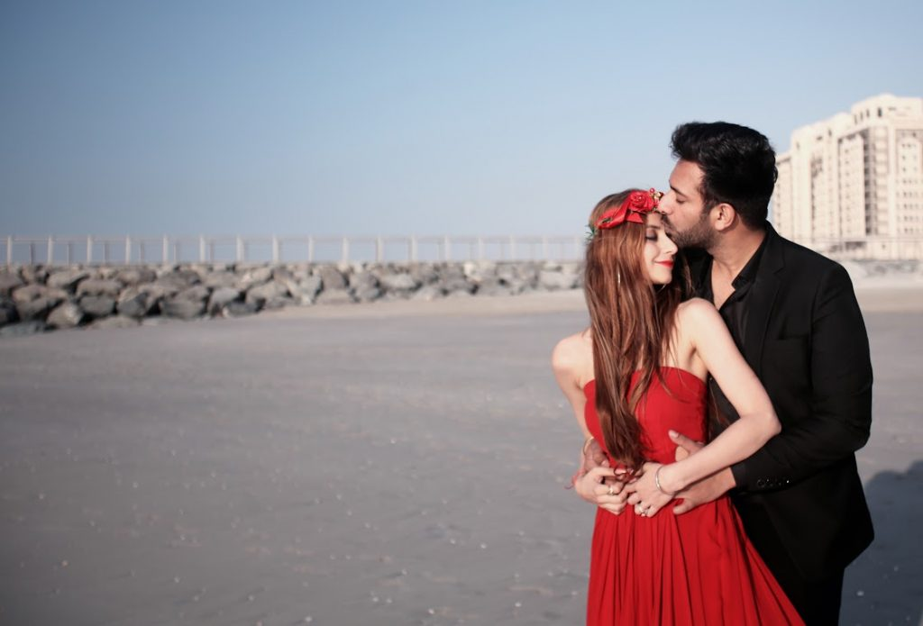 Cute Pre-wedding Pictures from Fairmont Ajman Wedding