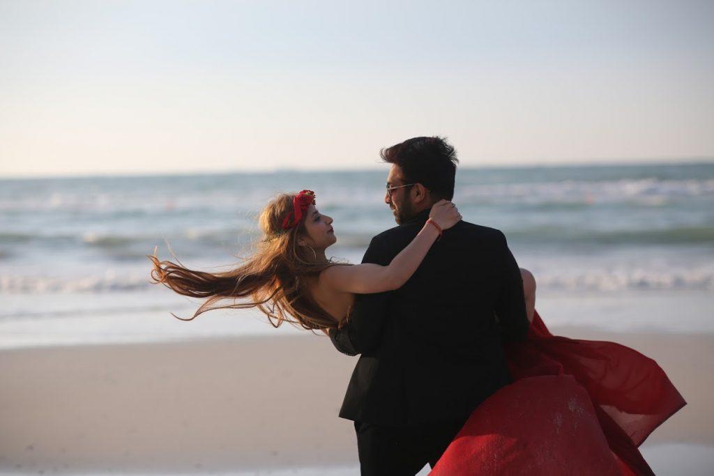 Kanika & Saurav Romantic Pre-wedding Shoot before Beach Wedding in Dubai