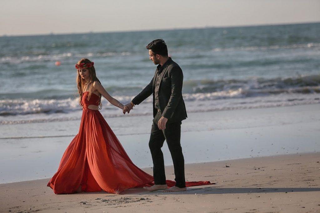 Kanika and Saurav Beautiful Beachside Pre-wedding Shoot in Dubai