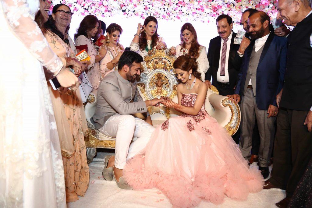 Candid Shots of Kanika & Sourav's Engagement Ceremony in Delhi