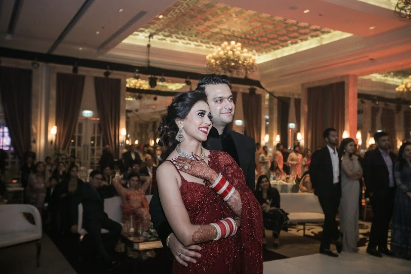 Aahana & Tarun enjoying lively performances at their Sufi-Themed Destination Wedding Reception in Dubai
