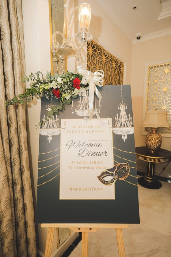 Dubai Destination Wedding Welcome Dinner Party Images