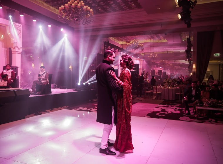 Aahana and Tarun's First Dance at Reception after Arab-themed Dubai Destination Wedding