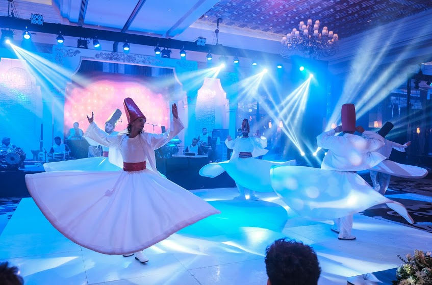 Majestic Sufi Dance Performance at Arab-themed Destination Wedding in Dubai