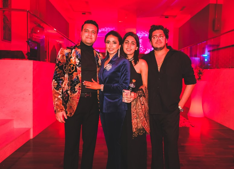Aahana and Tarun with Friends at Wedding Welcome Dinner Party