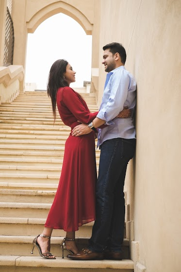 Cute Post-wedding Photoshoot of Aahana & Tarun in Hotel Palace Downtown in Dubai