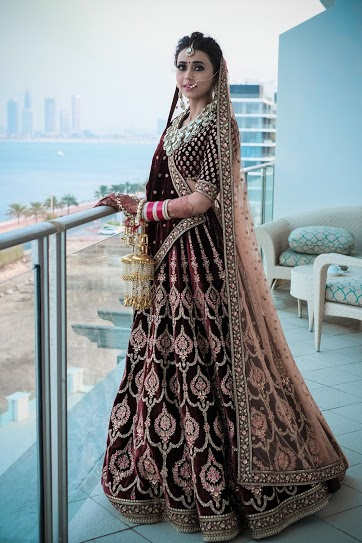 Stunning Sabyasachi Bride Ready for her Destination Wedding in Dubai