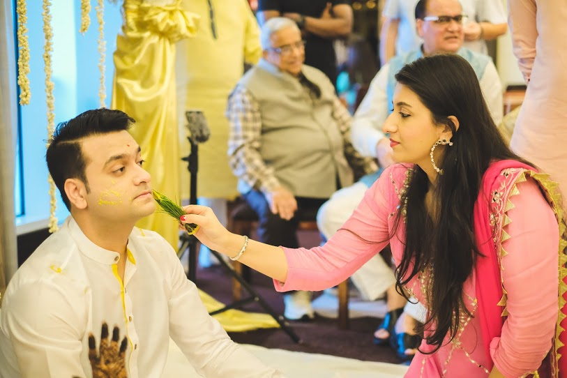 Fun Haldi Ceremony at waldorf astoria dubai pictures