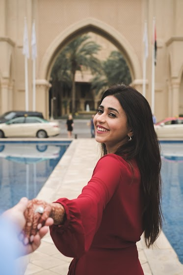 Beautiful Portrait Shot of Aahana from her Post Wedding Photoshoot in Dubai