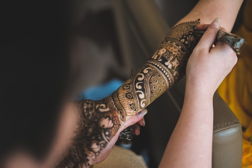 Indian-Arabic Mehendi Blend for Arab-Themed Indian Destination Wedding in Dubai