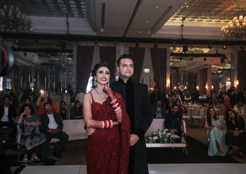 Tarun and Aahana enjoying their Arab-Themed Wedding Reception in Dubai