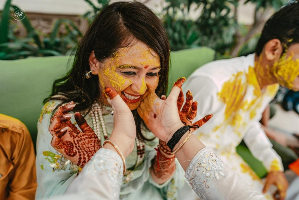 Ayushi in the haldi ceremony of her one of the most pin-worthy Intimate weddings in lockdown