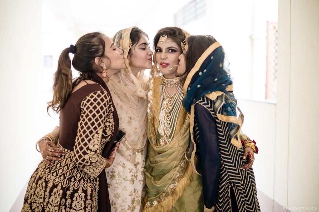 Mahdiyeh with her Bridesmaids at her Intimate Lockdown Wedding