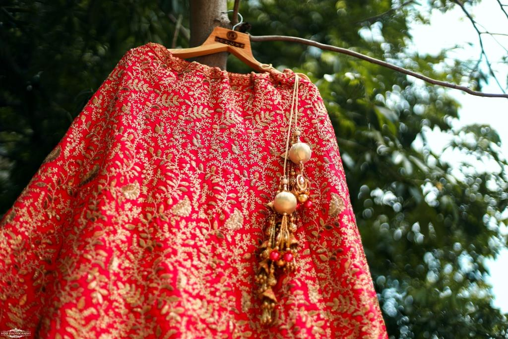 Riddhi's Bridal Lehenga Photography from her Intimate Wedding in Lockdown