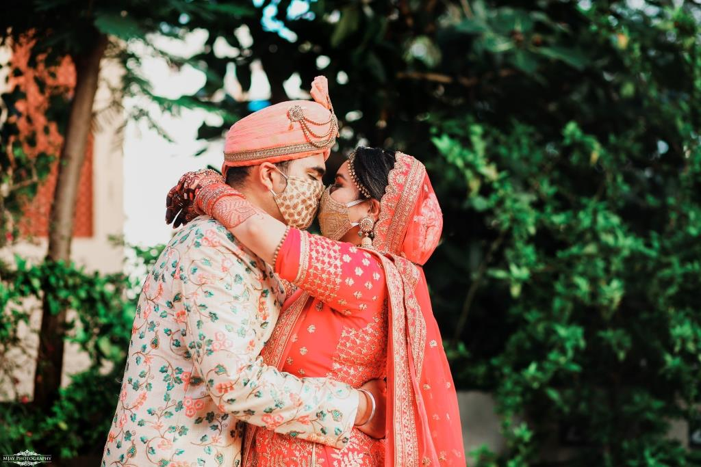 Super Adorable shots of Riddhi & Ronak from their Intimate Wedding in Lockdown