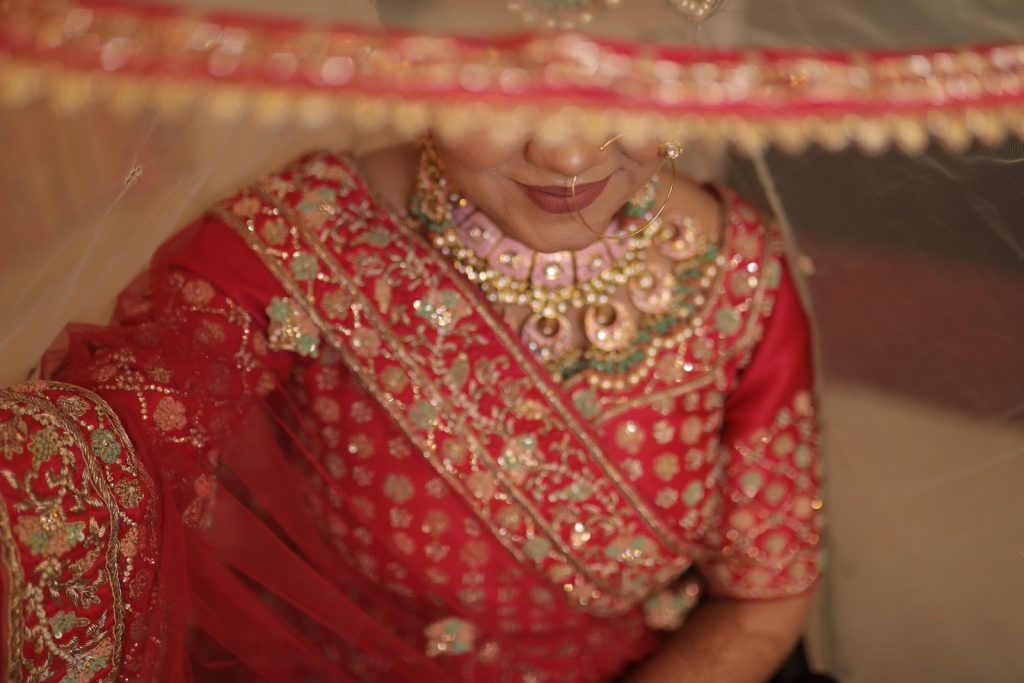 Suhani in Pink Bridal lehenga and Jewellery for her Home Wedding in lockdown
