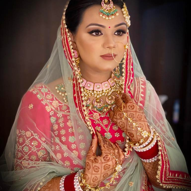 Suhani adorned in baby pink bridal lehenga for one of the most elegant intimate weddings in lockdown