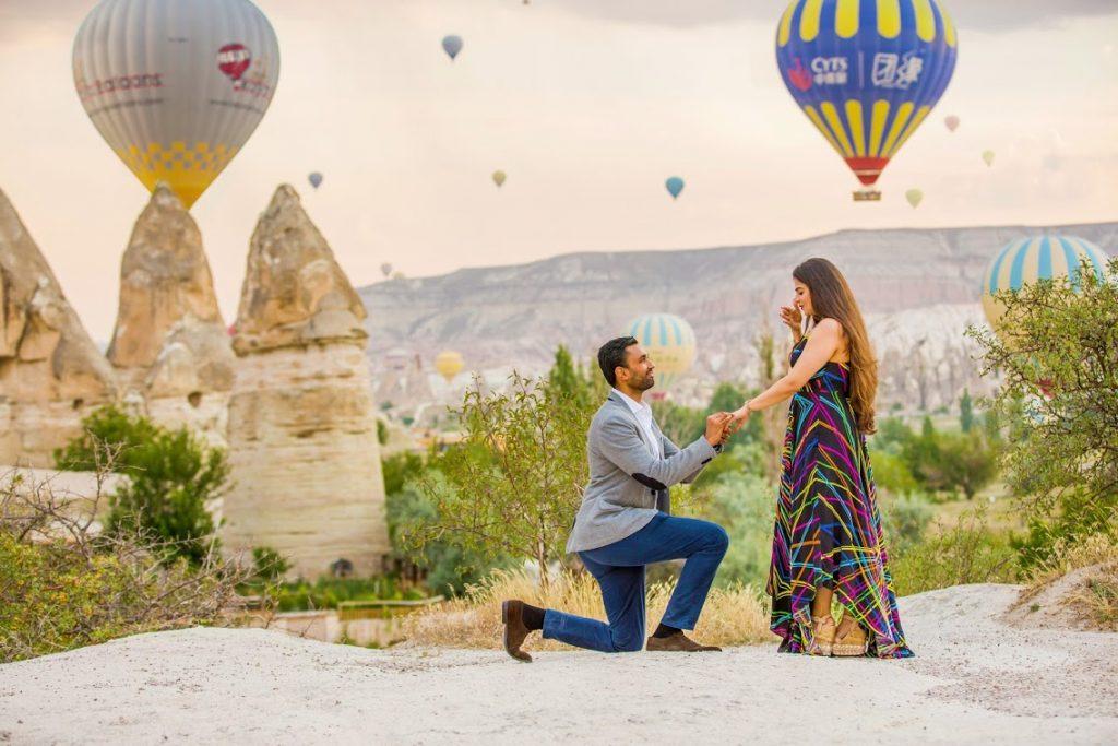 Hietsh's Surprise Proposal in Cappadocia, Turkey