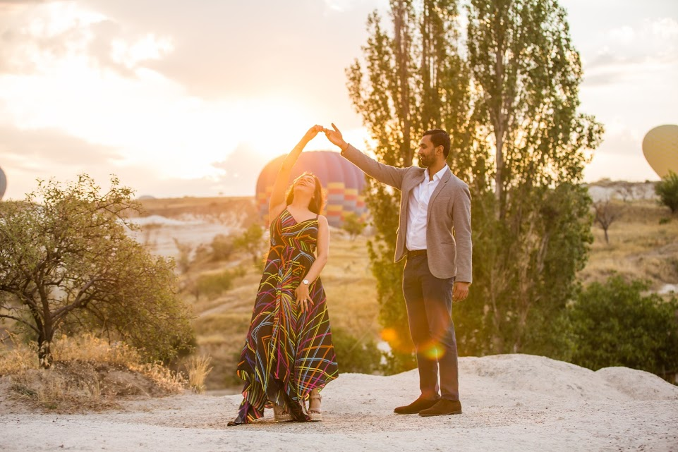 Beautiful Post Proposal Photoshoot in Turkey before the Grand ITC Grand Bharat Wedding
