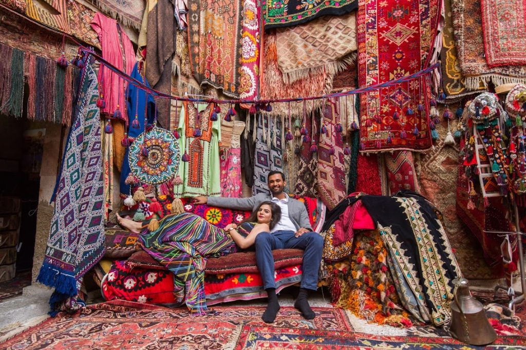 Super Cool Portraits from Aakriti & Hitesh's Proposal Shoot in Turkey shot in antique stores