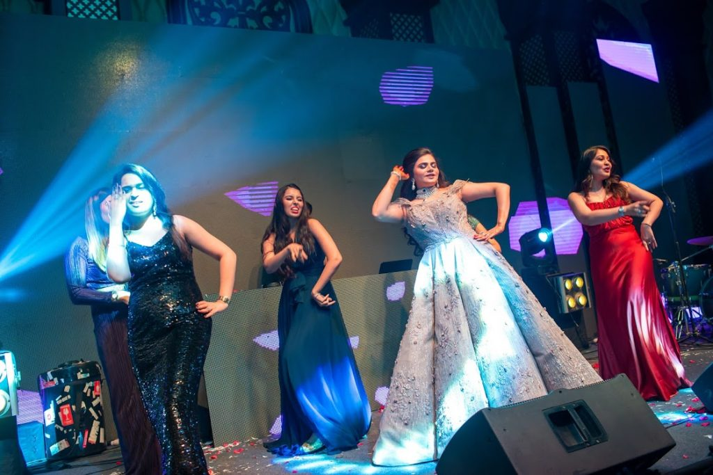 Dance with Bridesmaids at ITC Grand Bharat Wedding's Cocktail Party